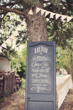 Anne Claire Brun - A Pastel Wedding Ambience Year 20 - Travel Theme - The Barefoot Wedding Wedding Signage, Wedding Menu, Wedding Wishes, Diy Wedding, Rustic Wedding, Wedding Ideas, Wedding Doors, Wedding Blog, Deco Table Champetre