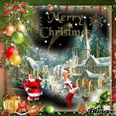 """✷❉Merry Christmas❉✷""""The best Blingee""""❉✷ Christmas Images, Christmas Time, Merry Christmas, Xmas, Santa Claus Images, Santa Clause, Christmas Decorations, Christmas Ornaments, Holiday Decor"""