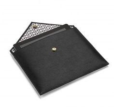 Mark/Giusti Black Leather Cosmati Envelope Ipad Case