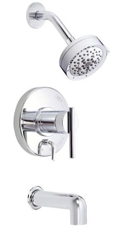 Parma Diverter Tub and Shower Faucet Trim with Lever Handle