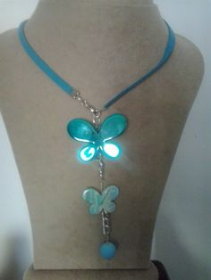 Blue butterflyes necklace