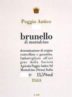 2001 Poggio Antico Brunello di Montalcino Brunello Di Montalcino, Home Wine Cellars, Label Image, Wine Reviews, Gin, The Good Place, Jeans, Jin