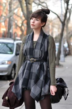 belted vest. would also look cool with a scarf.