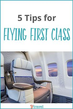 Flying First Class Tips - For some, flying first class is an everyday experience. But for the rest of us, it can be the rare stint in the lap of luxury. Here's ehy and when you should consider flying first class. First Class Plane, Flying First Class, Traveling Cna Jobs, Cheap First Class Flights, Travel With Kids, Family Travel, Travel Abroad, Travel Tips, Travel Hacks