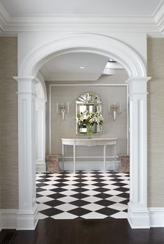 ' Significant Homes LLC, fine homes builder, New Canaan, CT. JBMP Architecture and Interior Design. Photography by Keith Scott Morton. New Canaan, Entry Hallway, Antique Stores, Home Builders, Mead, Sweet Home, Stairs, House Design, Flooring