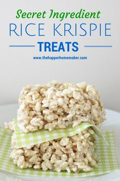 Perfect Rice Krispie Treats (it's all about the Secret Ingredients!) | The Happier Homemaker