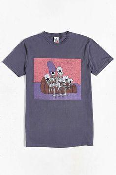 Junk Food - T-shirt avec squelettes des Simpsons