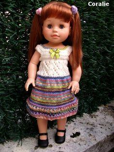 Louise, tuto de sa nouvelle robe  Robe à bretelles 2 en 1 pour Soy Tu ,Paola Reina 43 cm - http://tricotspoupees2.canalblog.com/archives/2015/07/25/32400687.html