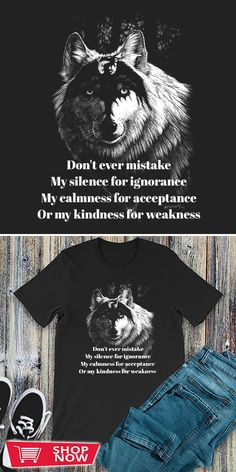 You can click the link to get yours. Don't Ever Mistake My Silence For Ignorance T-shirt. Wolf Spirit tshirt for Wolf Lovers and Viking Warriors. We brings you the best Tshirts with satisfaction. Wolf Life, My Silence, Wolf T Shirt, Wolf Spirit, Viking Warrior, Wolfhound, Love Gifts, Special Gifts, Warriors