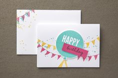 by Shelli: Celebrate Today & its Balloons framelits from Stampin' Up! plus 4 more cards.