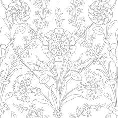 Traditional Arabic Ornament Seamless For Your Design. Stock Vector - Illustration of illustration, handmade: 75690760 Islamic Art Pattern, Arabic Pattern, Pattern Art, Ornament Pattern, Embroidery Blanks, Turkish Art, Floral Artwork, Art N Craft, Chalkboard Art