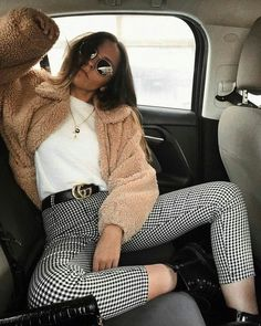 29 Plaid Pants Outfit for Your Casual Stroll Down. - 29 Plaid Pants Outfit for Your Casual Stroll Down. Source by shellyredmonfashioideas - Winter Outfits For Teen Girls, Winter Fashion Outfits, Fall Winter Outfits, Look Fashion, Autumn Fashion, Womens Fashion, 90s Fashion, Catwalk Fashion, Casual Winter