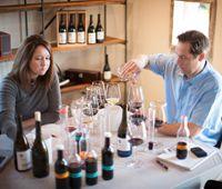 Steve Leveque, Director of Winemaking and Megan Gunderson, Winemaker of Walt Wines.
