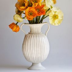 ~ frances palmer pottery - maybe tulips?
