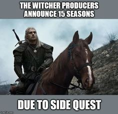 Destiny helps people believe there& an order to this horseshit My Horse, Horse Riding, Horses, Witcher 3 Wild Hunt, The Witcher, You Funny, Really Funny, Funny Things, Funny Images
