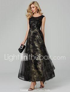 1c98740eed6d [$129.99] Γραμμή Α Με Κόσμημα Μακρύ Τούλι Ανοικτή Πλάτη Κοκτέιλ Πάρτι /  Επίσημο Βραδινό Φόρεμα με Διακοσμητικά Επιράμματα με TS Couture®