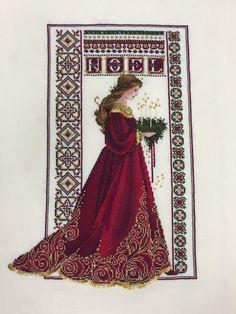 Lavender and Lace Celta Navidad Noel Mujeres Rojo acabado arte de punto de cruz   Artesanías, Artesanías con agujas e hilos, Bordado y punto de cruz   eBay!