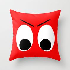 I is Mad Throw Pillow by Alice Gosling Cushion Covers, Cushion Pillow, Creation Couture, Lego, Pillow Talk, Unique Home Decor, Mustache, Smiley, Things To Buy