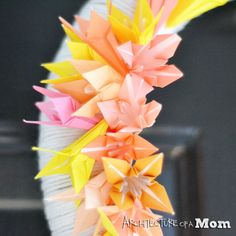 Origami Easter Wreath