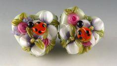 Ladybug Tuesday No. 4Handmade Lampwork Glass Beads SRA by Brilynn