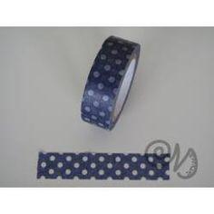 Masking Tape dunkelblau mit weissen Punkten