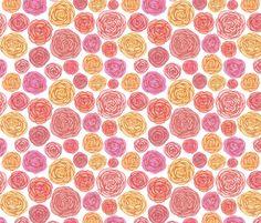 Ranunculus fabric by mrshervi on Spoonflower - custom fabric