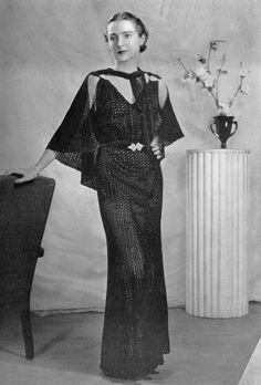 Crocheted Lace Evening Gown - Vintage 1930s Dress Pattern