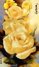 Framed Acrylic Paint by Number kit 50x40cm (20x16'') The Yellow Roses DIY LG7128