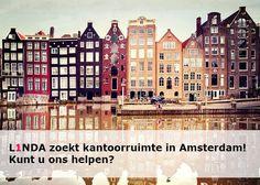 L1NDA zoekt kantoorruimte in Amsterdam! Kunt u ons helpen? Bezoek onze website voor meer informatie