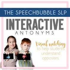 This printable resource on Interactive Antonyms provides visual matching to help students understand opposites! Great help in your special education, speech therapy or English Language Arts classroom!  Low prep and easy to use. #TpT #SLP #SPED #ELA #speechpathologist #visuals #printables #antonym