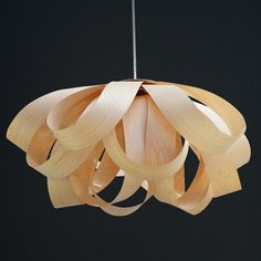 Romantic Flower Pendant Lampmade of Maple by oaklamp on Etsy