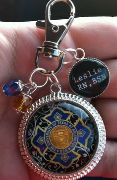 An amazing gift for a graduating nursing student...you want to show your School Pin with pride after graduation but wearing them on your badge can be dangerous as you can lose them. Why not show off your college pin by wearing this on your badge or attaching it to your key chain....a truly amazing gift!
