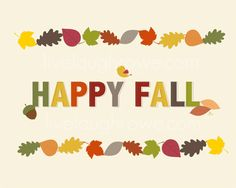 Sharing a fun and complimentary Happy Fall printable! Swing by and grab your copy!