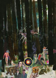 Olaf Hajek Paintings for exhibition FLOWERHEAD at the Direktorenhaus in Berlin Mitte