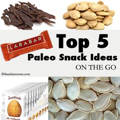 Top 5 Paleo Snack Ideas On The Go #paleo #snacks from fitandawesome.com