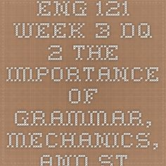 eng 121 week three journal