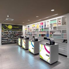 Farmacia Ceriali Cremona MOBIL M arredo per farmacie Design Exterior, Shop Interior Design, Retail Design, Store Design, Design Visual, Mobile Shop, Corporate, Layout, Shop Organization