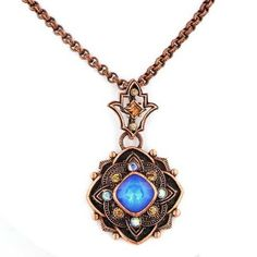 Copper Toned Pendant Necklace with Dark Blue Faceted Stones 1928 Jewelry,http://www.amazon.com/dp/B00DR0JFRO/ref=cm_sw_r_pi_dp_6sBcsb1H51H6F7TK