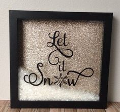 Let it snow christmas shadow box decoration by JackiLynnCreations