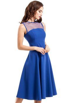 75392423d0 Rozkloszowana Sukienka z Tiulem Chabrowa MO271