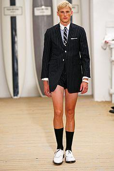 haha Oh, men fashion...Thom Browne 2008SS #Zappos