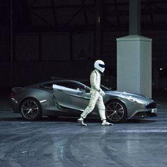 The Stig Drives the New Aston Martin Vanquish for Top Gear Live New Aston Martin, Aston Martin Vanquish, Top Gear Bbc, Transformers, Love Car, Grand Tour, Hot Cars, Car Show, Race Cars