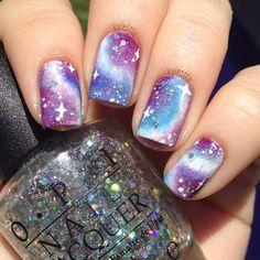 It's like a unicorn galaxy but without the unicorn. lol Instagram media by kylettta #nail #nails #nailart