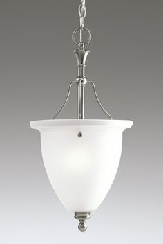 Madison Collection Brushed Nickel 1-Light Chandelier - http://chandelierspot.com/madison-collection-brushed-nickel-1light-chandelier-541041206/