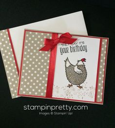 ORDER STAMPIN' UP! ON-LINE! I adore this Hey, Chick Birthday Card. Get the stamp set FREE during Sale-A-Bration. See more . . .