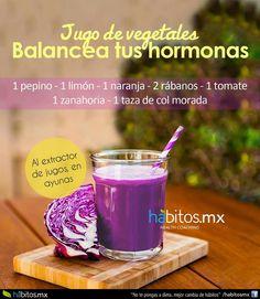 Jugo para balancear las hormonas. Tomar 3 veces a la semana y variar con otro jugo para aprovechar otros nutrientes.