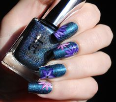 September Kanzashi nail art with A England Proserpine