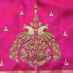 Pattu Saree Blouse Designs, Blouse Designs Silk, Bridal Blouse Designs, Hand Work Embroidery, Embroidery Suits, Embroidery Designs, Maggam Work Designs, Indian Silk Sarees, Blouse Models