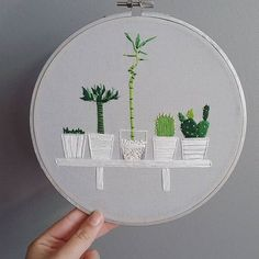 Wonderful Ribbon Embroidery Flowers by Hand Ideas. Enchanting Ribbon Embroidery Flowers by Hand Ideas. Cactus Embroidery, Embroidery Hoop Crafts, Hand Embroidery Stitches, Hand Embroidery Designs, Ribbon Embroidery, Embroidery Art, Cross Stitch Embroidery, Knitting Stitches, Embroidery Sampler
