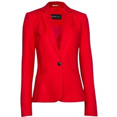 Mango Tailored Blazer, Red found on Polyvore  I would love this for work in the winter